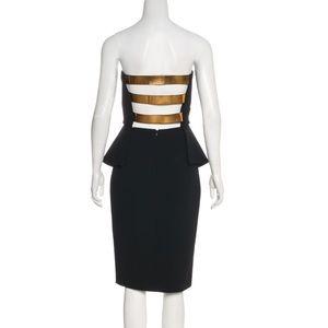 Derek Lam 10 Crosby Strapless Peplum Dress